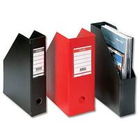 Black Magazine Rack File Jumbo Plastic A4 110mm Pack 5 Bantex Concept