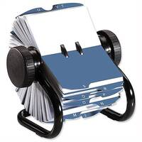 Rolodex Classic 200 Business Card Index File Black 67236