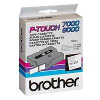 Brother P-touch TX-251 24mm x 15m Black On White Labelling Tape