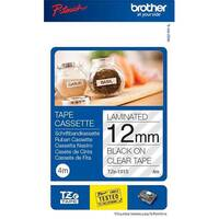 Brother P-Touch TZe-131S 12mm x 4m Black On Clear Labelling Tape
