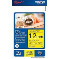 Brother P-Touch TZe-631S 12mm x 4m Black On Yellow Labelling Tape