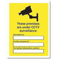 Stewart Superior Outdoor CCTV Warning Sign Data Protection Act Compliant PVC Sign A3 W300xH400mm