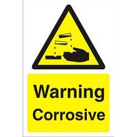Construction Board 400x600 Safety Sign 3mm Foam PVC Warning Corrosive