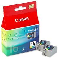 Canon BCI-16 Colour Ink Cartridges Twin Pack 9818A002