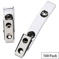 GBC Name Badge Clips Metal and Plastic Pack 100