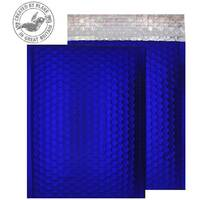 Purely Packaging Bubble Envelope P& C5+ Metallic NeonBlue Ref MTNB250 [Pk 100]