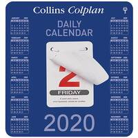 Collins Colplan 2020 Daily Block Calendar 12 Month Daily Tear-off 165x175mm White/Blue Ref CDBC 2020