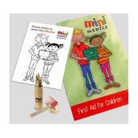 Click Medical Kids First Aid Pack with Colouring Pencils Ref CM1323