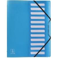 Elba 2nd Life A4 Sorter 12-Part Polypropylene Blue Single