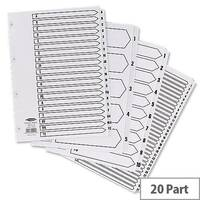 Concord A-Z Index 4 Holes A4 20-Part White