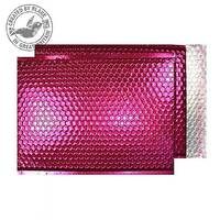 Purely Packaging Bubble Envelope P& C3 Metallic Bright Pink Ref MBP450 [Pack 50]