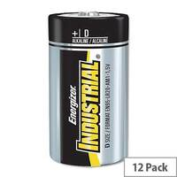 Energizer Industrial Size D Batteries 1.5V (12 Pack) 636108