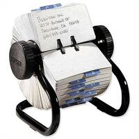 Rolodex Black Classic 500 Rotary File Metal 66704