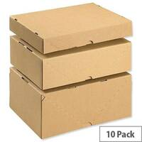 Mailing Cartons With Lid A4 305x215x50mm Brown Pack of 10