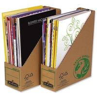 Fellowes Magazine File Recycled FSC Self-assembly Pack 20