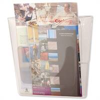 Deflecto Literature &Brochure Holder Wall Pocket Portrait Used In Many Different Environments Such As Reception Areas, Waiting Rooms, Shops, Travel Agencies &More.