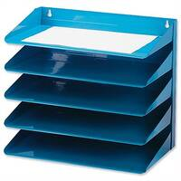Avery 5-Tier Steel Letter Rack Blue