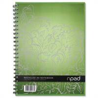 Oxford npad A4 Notebook Recycled Ruled 200 Pages Pack 3
