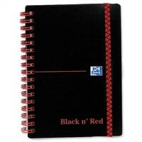 Black n Red A6 Wirebound Notebook F67010 140 Pages Pack 5