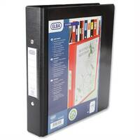 A5 Black Ring Binder Heavyweight PVC 2 O-Ring Size 25mm Elba Vision