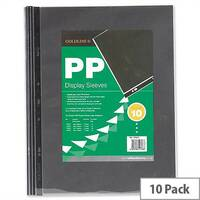 Goldline A3 Clear Sleeves 3 Hole PDSA3Z Pack 10