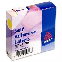 Avery Yellow Round Labels Diameter 19mm 24-508 1120 Labels