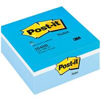 Post-it Note Cube Pad of 450 Sheets 76x76mm Pastel Blue