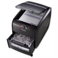 Rexel AutoPlus 60X Paper Shredder Confetti Cross Cut With P-3 Security - Fast, hands-free operation.  Stack up to 60 sheets of paper inside, close the lid and walk away.  Also shreds credit cards.