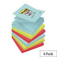Post-it Super Sticky Z-Notes Miami 76 x 76mm R330-6SS-MIA