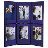 Nobo 6 Panel Display Boards Blue and Grey 1900043