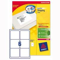 Avery L7166-250 Address Labels Laser 6 per Sheet 99.1x93.1mm White 1500 Labels