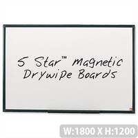 Magnetic Whiteboard 1800 x 1200mm 5 Star