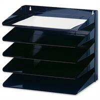 Avery 5-Tier Steel Letter Rack Black