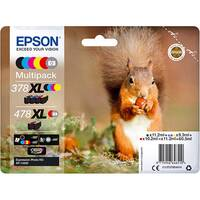 Epson 478XL Multipack - 6-pack - grey, black, yellow, cyan, magenta, red - original - blister with RF/acoustic alarm - ink cartridge - for Expression Photo XP-8500 Small-in-One