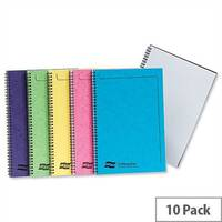 Europa A4 Note Maker Book Sidebound Ruled 120 Pages Assorted C Pack 10