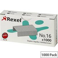 Rexel No.16 6mm Staples Ref 06121 Pack 1000