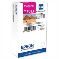 Epson T7013 Inkjet Cartridge Extra High Capacity Page Life 3400pp Magenta Ref C13T70134010