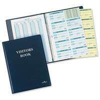 Durable Visitors Book Leather Look 300 Badge Inserts W90xH60mm 1463-00