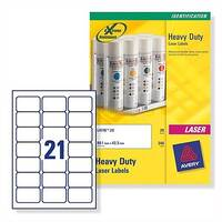 Avery L7060-20 Heavy Duty Labels Laser White 63.5x38.1mm 420 Labels