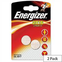 Energizer CR2016 Button Cell Coin Batteries 2 Pack – Lithium Battery, 3 Volt, 90 mAh, 10-Year Shelf Life, Metallic, Works Between -30 and +60 Degrees, Speciality &CPSC (CR2016)