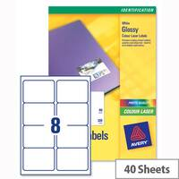 Avery L7765-40 Address Labels Colour Laser 8 per Sheet 99.1x67.7mm 320 Labels