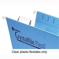Plastic Tabs For Rexel Crystalfile Flexifile Suspension Files Clear 3000057 Pack 50