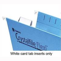 Card Inserts for Rexel Crystalfile Flexifile Suspension File Tabs White 3000058 Pack 50