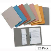 Green Transfer Spring Files with Inside Pocket 38mm Foolscap Pack 25 Guildhall