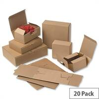 Easi Mailer Kraft Mailing Boxes 160x110x64mm Brown Pack of 20