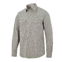 Snickers 8507 AllroundWork Comfort Checked LS Shirt Size L Khaki/Black