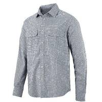 Snickers 8507 AllroundWork Comfort Checked LS Shirt Size L Blue/Navy