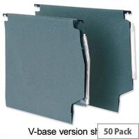 Lateral File Green W330mm with Clear Tabs and Inserts 215gsm Pack 50 5 Star