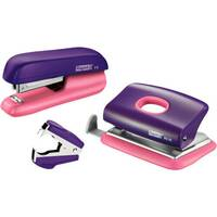 Rapid Mini Stapler F5 &Hole Punch Set Purple &Apricot