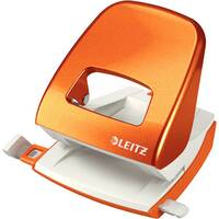 Leitz New NeXXt WOW Metal Office Hole Punch Blister Pk 3mm Metallic Orange